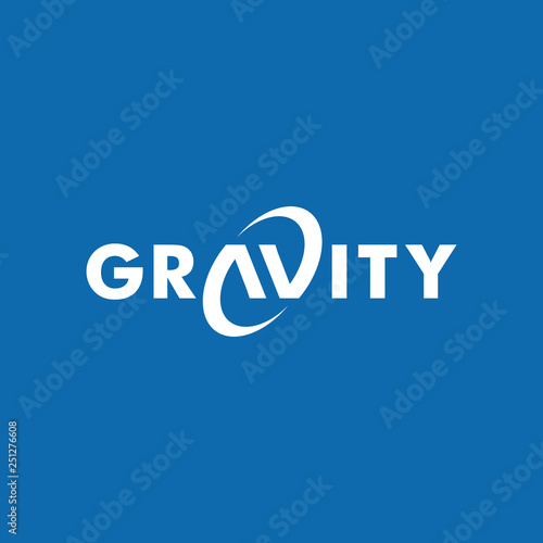 gravity wordmark logo icon vector template Fototapet