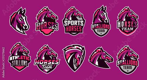 Photo Set of horses logos