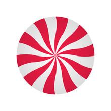 Peppermint Cream Candy. Spiral...