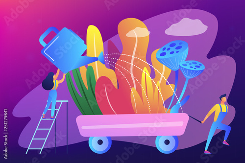 Foto op Canvas Violet Landscape design concept vector illustration.