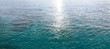 Seascape. Ocean with aqua colors-Panorama of caribbean water