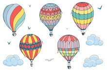 Vector Isolated Balloons On Wh...