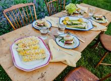 Summer New England Dinner Table Setting