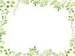 Leinwandbild Motiv 水彩 新緑フレーム