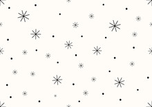 Abstract Background Of Dots And Asterisks, Seamless Pattern