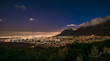 canvas print picture - Cape Town, South Africa at night, view from Signal Hill