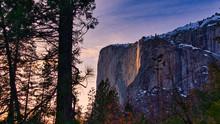 Firefall In Yosemite National Park