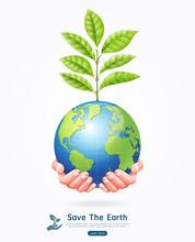 Save The Earth Conceptual. Ear...