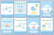 Baby Shower Card. Vector Baby ...