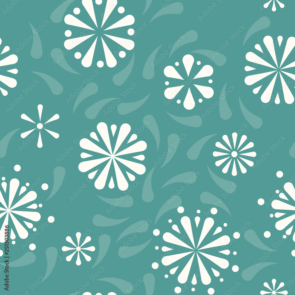 Vector Folklore Pysanky Rosettes seamless pattern background. Perfect for fabric, scrapbooking and wallpaper projects.