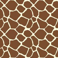 A Giraffe Animal Print Seamless Pattern Tile Background