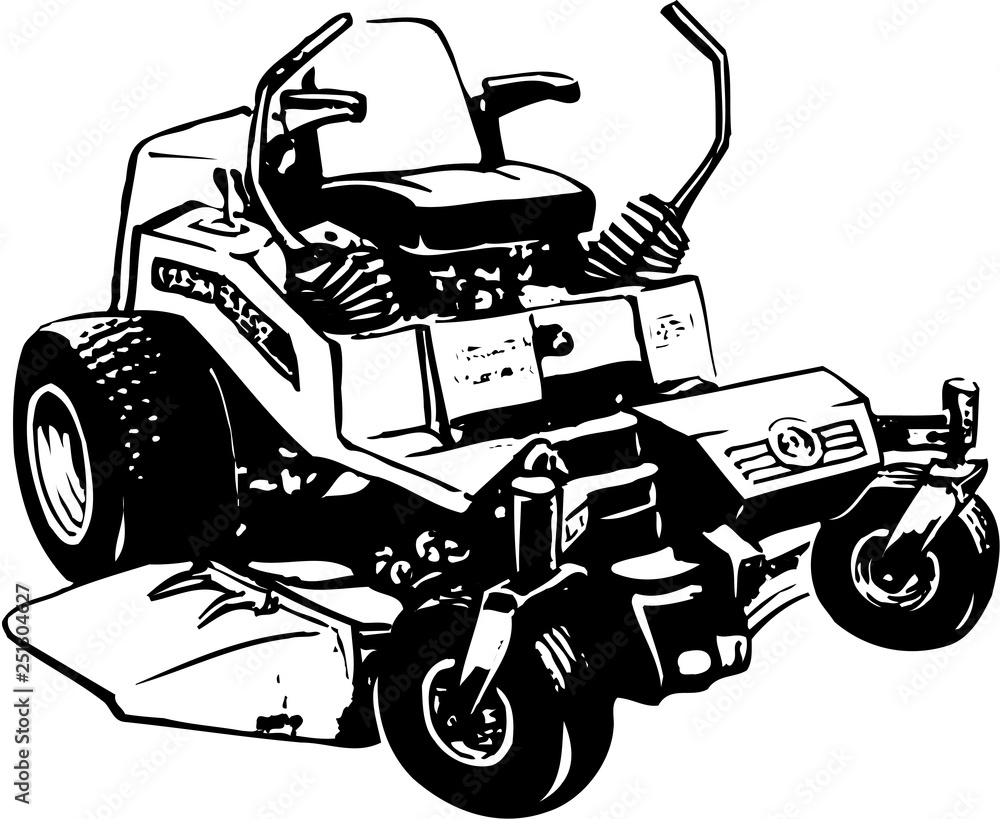 Fototapety, obrazy: Lawn Mower Vector Illustration