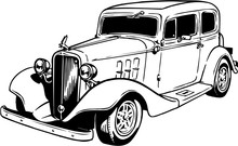 1933 Chevy Sedan Vector Illust...
