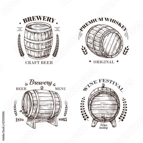 Brewery emblem Fototapet