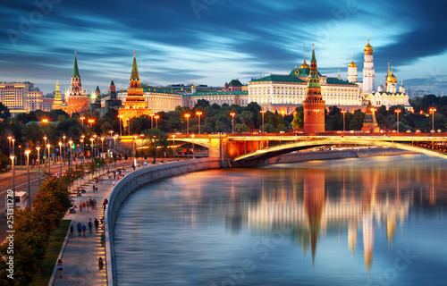 Canvas Print Moscow cityscape in Russia, Kremlin