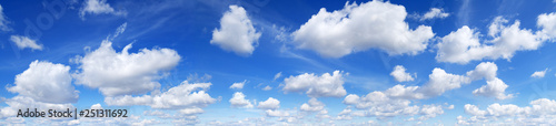 Obraz Panorama - Blue sky and white clouds - fototapety do salonu