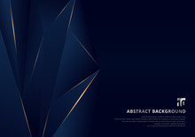 Abstract Template Dark Blue Lu...