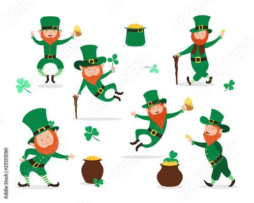 Fotografie, Obraz  Leprechaun collection for Saint Patrick Day design