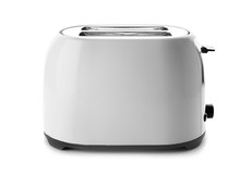 Modern Toaster On White Background