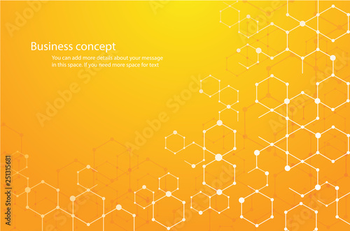 abstract hexagon background and space for write vector eps10 - 251315681