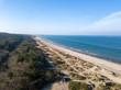 Aerial view of Tisvildeleje Beach, Denmark