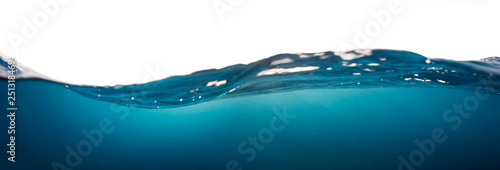 Fotografía Water wave isolated on white background
