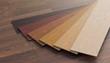 Leinwanddruck Bild - Color samples of wooden laminate floor. 3D rendered illustration.
