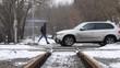GOMEL, BELARUS - February 24, 2019: railway transfer. auto movement.