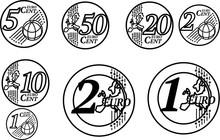 All European Union Euro Coins