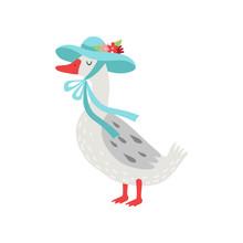 Beautiful White Goose Cartoon ...