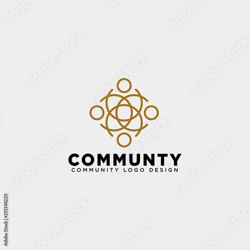 Photo community human logo template vector illustration icon element isolated