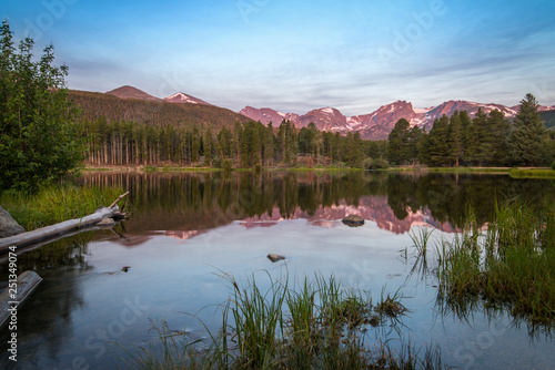 Fotografie, Obraz  reflection of Mountains in Lake Waters