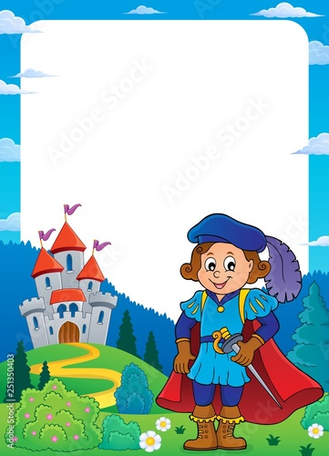 Wall Murals For Kids Prince and castle theme frame 2