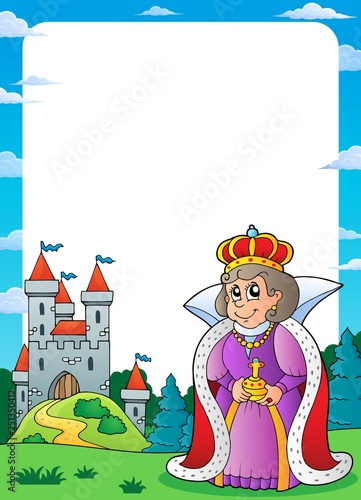 Wall Murals For Kids Queen and castle theme frame 1