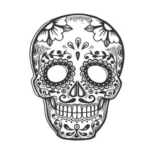 Mexican Mask Day Of Dead Vinta...