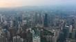 sunset sky kuala lumpur downtown aerial panorama timelapse 4k malaysia