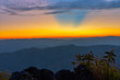 Landscape of sunrise on Mountain at of Doi Pha Phueng ,NAN,Thailand