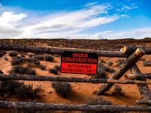 Desert Under Construcion, Horseshoe Bend, Arizona, USA