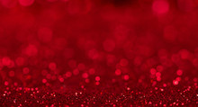 Bright Beautiful Sparkling Red Background With Bokeh Effect