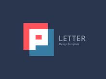 Letter P Logo Icon Design Temp...