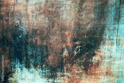 Foto auf AluDibond Graffiti vintage texture of old iron rusty colored metal