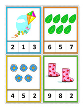 Spring Season Themed Counting ...