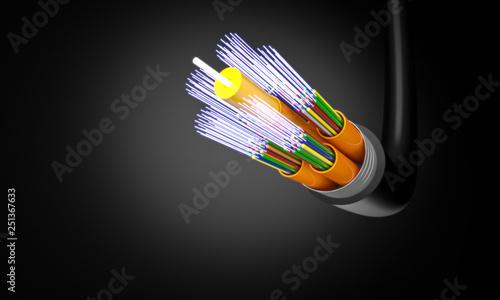 optic fiber cable Fototapete