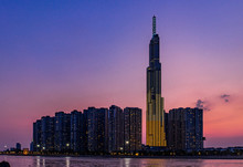 Landmark 81 Is A Super-tall Skyscraper In Ho Chi Minh City, Vietnam. Landmark 81 Is The Tallest Building In Vietnam And The 14th Tallest Building In The World