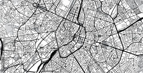 Cuadros en Lienzo Urban vector city map of Brussels, Belgium