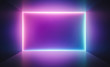 canvas print picture - Cyberpunk neon electronic style disco background concept.
