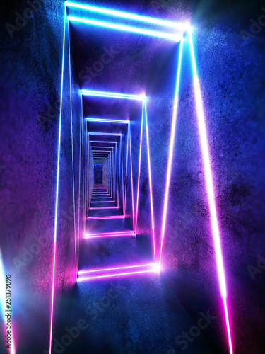 Cyberpunk neon electronic style disco background concept. - 251379896