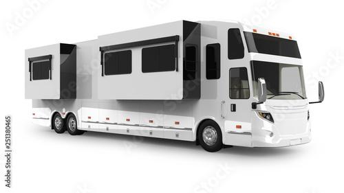 Fotografija RV Coach 3D Rendering Isolated on White