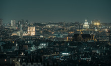 Notre Dame And Pantheon At Night