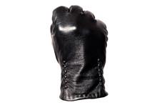 Closeup Black Leather Glove, F...